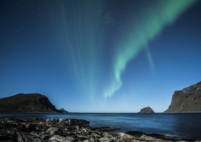 Nordlys over Nord-Norge.